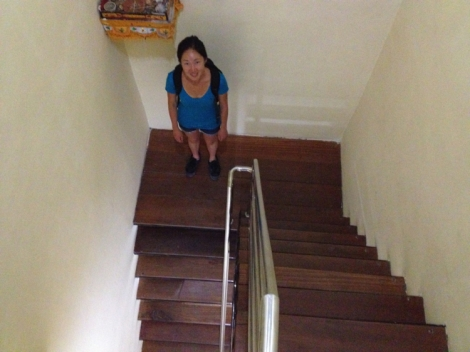 Steep staircase!