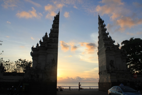 Kuta Beach at sunset