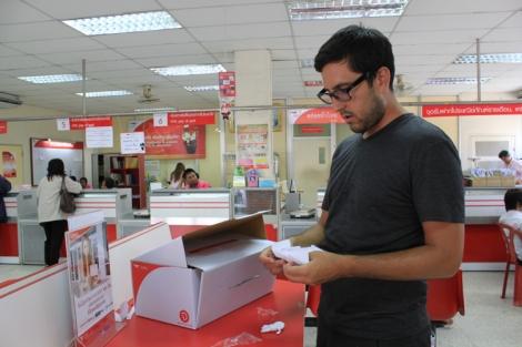 Post Box 60 x 20 x 25 cm. 25 Baht. Phuket Town Post Office