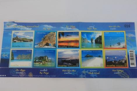Thai Stamps, 15 Baht Each