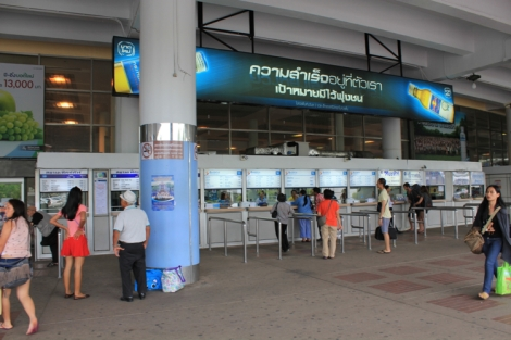 Mo Chit (Northern) Bus Terminal Outside Booths