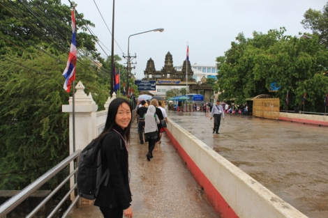 Border to Cambodia in the background