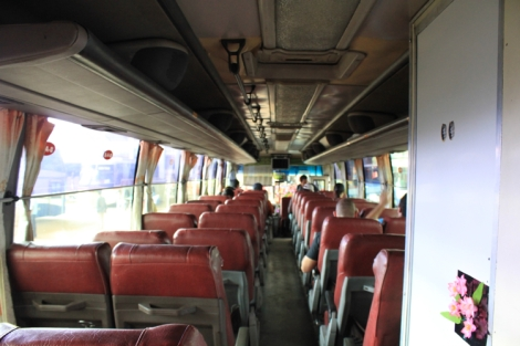 Sokha Komartep Bus (Inside - Toilet to the right)
