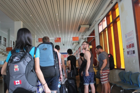 Inside the Vietnamese customs office (definitely shouldn't be taking pictures here)
