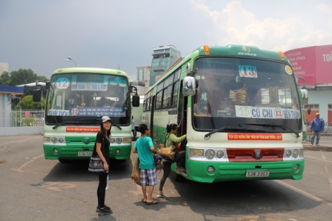 Bus #13 to Cu Chi Bus Terminal