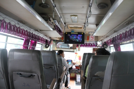 Interior of bus #13