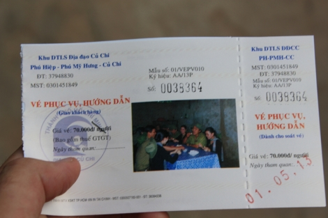 Cu Chi Tunnel Ticket #1