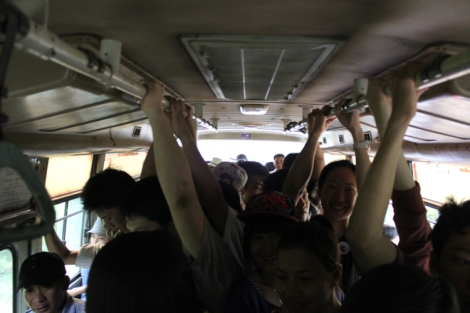 Jam packed bus