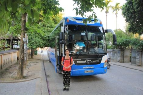 Our bus to Hanoi