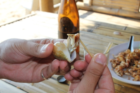 Sea snails... yum!