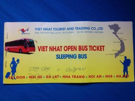 Open Bus Ticket