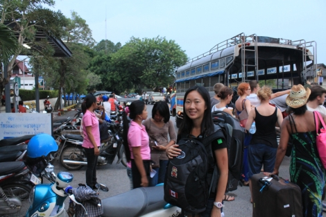 Dropoff at Chumphon railway station
