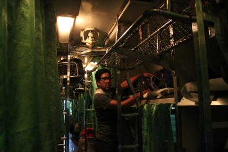 Thailand sleeper train interior