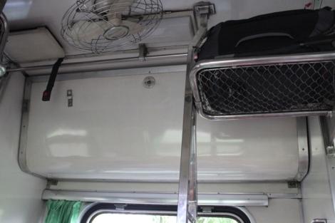 Upper bunk stowed