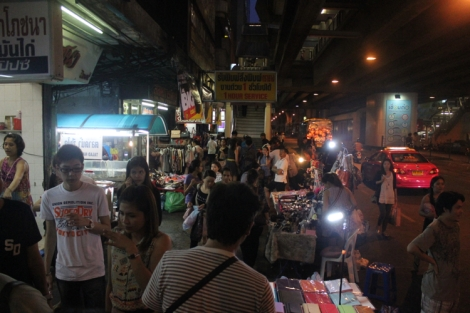 Street night market in Bangkok