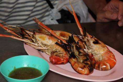 Massive BBQ shrimp