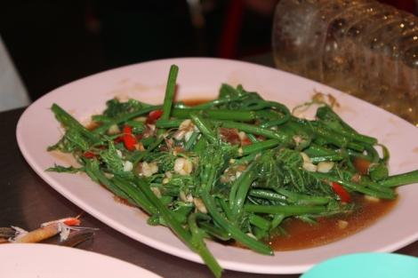 Pak boong! (Morning glory, aka swamp cabbage, aka ipomoea aquatica)