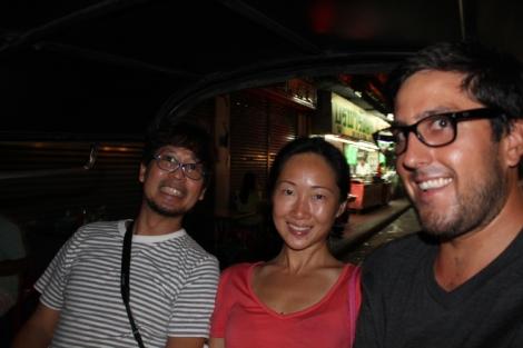 K, Julie and I in a tuk-tuk