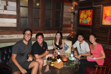 Old friends unite in Bangkok! Thanks for the drinks Sarut!