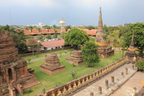 Ruins of smaller stupas