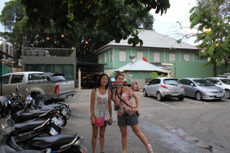 Julie and Nat post-dinner